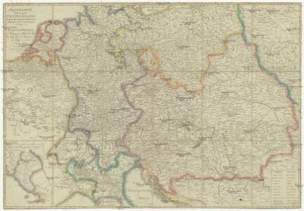 Postkarte durch ganz Teutschland, Italien, Frankreich, Niederland, Preussen, Polen und Ungarn
