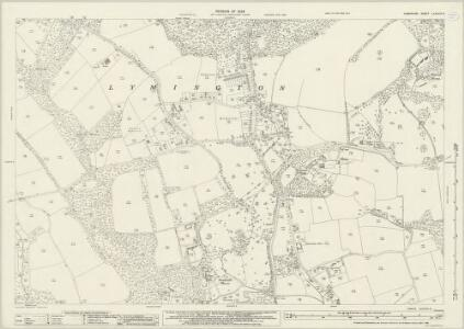 Hampshire and Isle of Wight LXXXVIII.5 (includes: Lymington) - 25 Inch Map