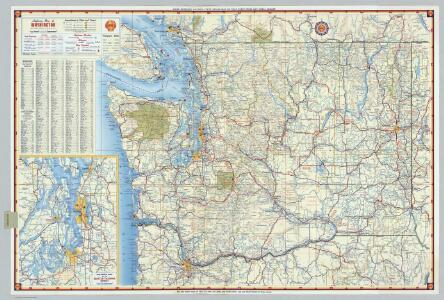 Shell Highway Map of Washington.
