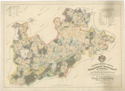 Topografická mapa třeboňského panství se statky Bzí, Borovany a Hamr 1
