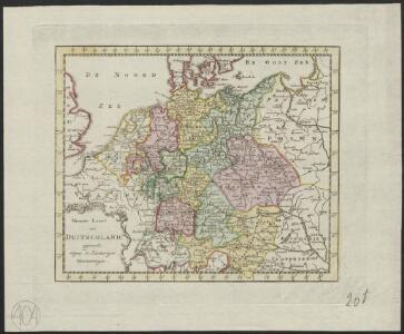 Nieuwe kaart van Duitschland, opgemaakt volgens de naukeurigste waarneemingen