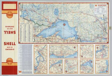 Various maps of cities and districts in Ontario, Canada.
