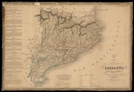 Mapa de Cataluña con las nuevas divisiones / formada por A.H. Dufour, geógrafo
