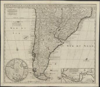 Carte du Paraguay, du Chili, Détroit de Magellan, & Terre de Feu: dans l'Amérique méridionale