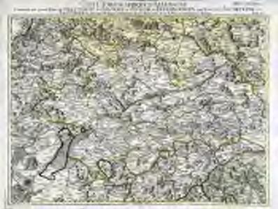 Carte topographique d'Allemagne contenant une grande partie de l'electorat de Baviere, de l'eveché de Freisingengen