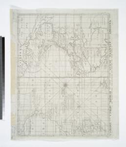 A new map or chart in Mercators projection of the Western or Atlantic Ocean: with part of Europe, Africa and America.