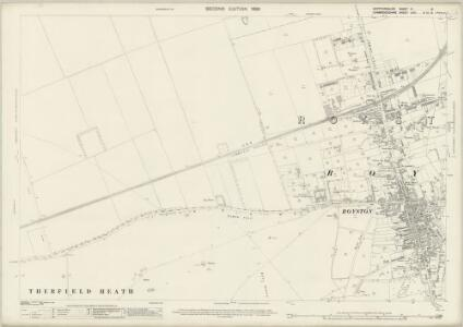 Hertfordshire IV.8 (includes: Bassingbourn; Litlington; Royston; Therfield) - 25 Inch Map