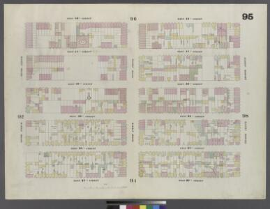 Plate 95: Map bounded by West 42nd Street, Eighth Avenue, West 37th Street, Tenth Avenue