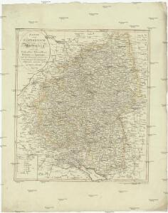 Karte vom Königreich Wirtemberg nebst dem Fürstenthum Hohenzollern-Sigmaringen und Sigmaringen