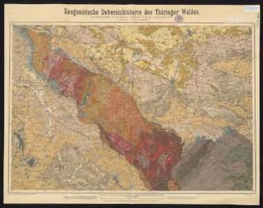 Geognostische Uebersichtskarte des Thüringer Waldes