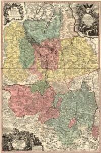 Marchionatus Lusatiae Superioris Felicissimo Poloniae Regis, Electoris Saxoniae sceptro florens, Dynastiis et Praefecturis suis distributus nova accuratione