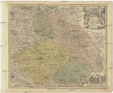 Regnum Bohemia eique annexae provinciae ut ducatus Silesia marchionatus Moravia et Lusatia accuratissime delineata