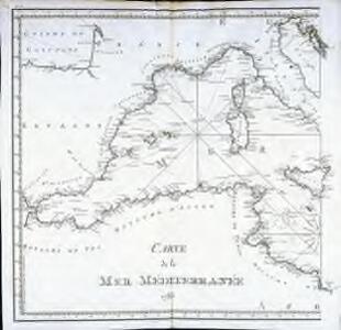 Carte de la Mer Méditerranée, 1