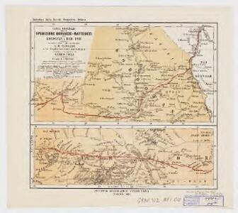 Carta originale della Spedizione Borghese-Matteucci : nel Kordofan e Dar For secondo i rilievi del sottotenente A.M. Massari e le Esplorazioni anteriori