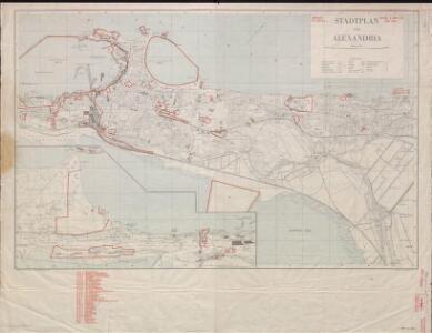 Stadtplan von Alexandria, 1:15,000