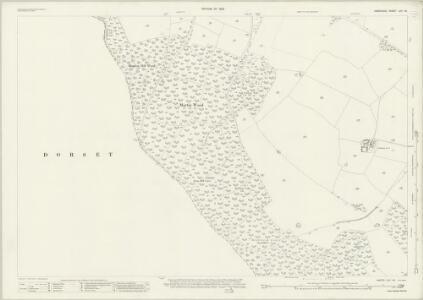 Hampshire and Isle of Wight LIVA.16 (includes: Cranborne; Damerham; Martin) - 25 Inch Map