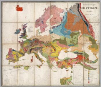 Carte Geologique De L'Europe.