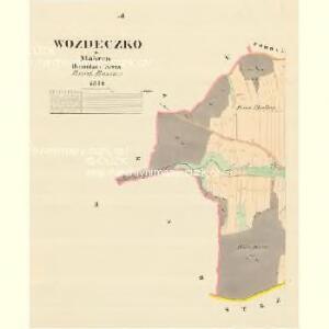 Wozdeczko - m0942-1-002 - Kaiserpflichtexemplar der Landkarten des stabilen Katasters