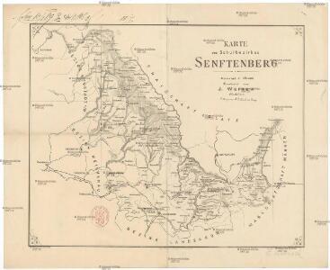 Karte des Schulbezirkes Senftenberg