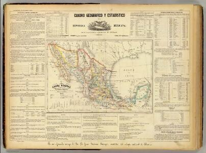 Carta general de la Republica Mexicana.