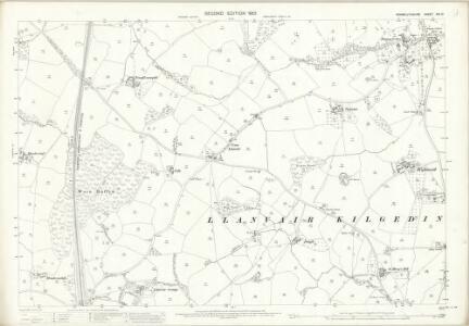 Monmouthshire XIII.13 (includes: Goetre Fawr; Llanarth Fawr; Llanover Fawr) - 25 Inch Map