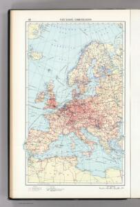 48.  West Europe, Communications.  The World Atlas.