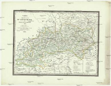 Carta dell' arciducato d'Austria con Salisburgo