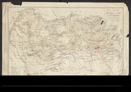 Carte provisoire de la région de Fez
