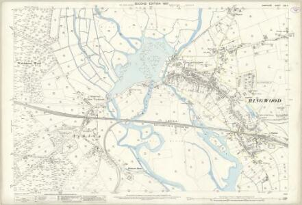 Hampshire and Isle of Wight LXX.11 (includes: Ringwood; St Leonards and St Ives) - 25 Inch Map
