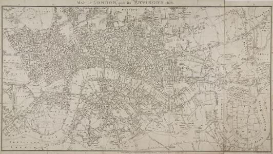 MAP of LONDON and its ENVIRONS 209
