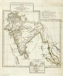 Ad antiquam Indiae geographiam tabula.