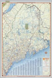 Shell Highway Map of Maine.