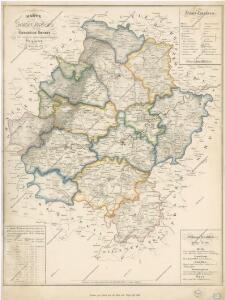 Karte des Saazer Kreises im Koenigreiche Boehmen