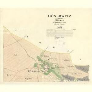 Höslowitz - m2179-1-001 - Kaiserpflichtexemplar der Landkarten des stabilen Katasters