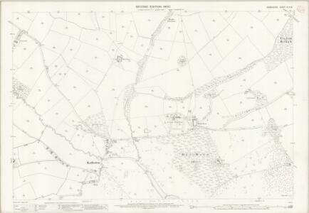 Derbyshire XLIV.15 (includes: Kedleston; Weston Underwood) - 25 Inch Map