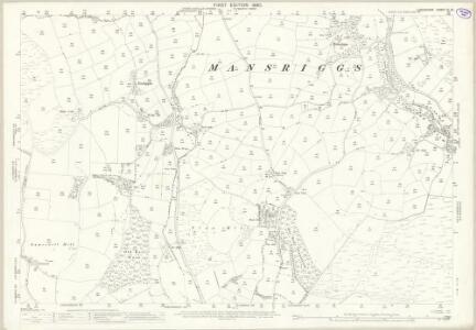 Lancashire XI.15 (includes: Egton With Newland; Mansriggs; Osmotherley; Ulverston) - 25 Inch Map