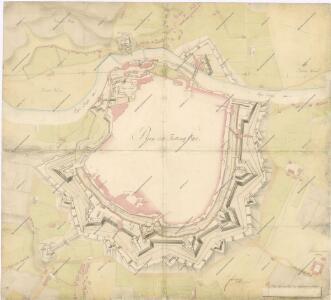 Plan der Festung Eger