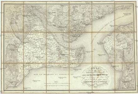 Plan de Constantinople, avec ses faubourgs en Europe et Scutari en Asie