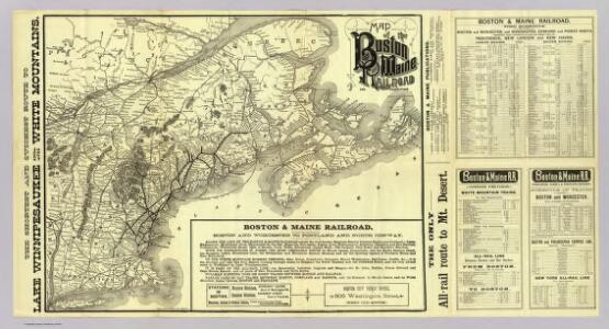Map Boston & Maine Railroad.