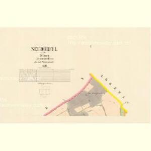 Neudörfel - c5255-1-001 - Kaiserpflichtexemplar der Landkarten des stabilen Katasters