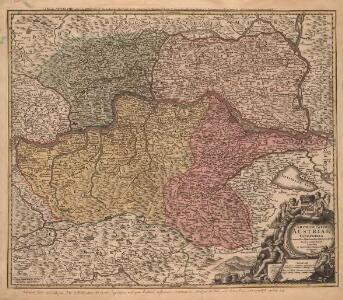 Archiducatus Austriae Inferioris In omnes suas Quadrantes Ditiones divisi. Nova et exacta Tabula è conatibus