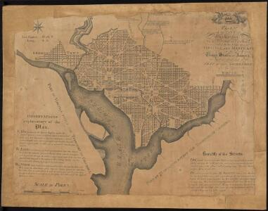 Plan of the city of Washington in the territory of Columbia, ceded by the states of Virginia and Maryland to the United States of America, and by them established as the seat of their government, after the year MDCC