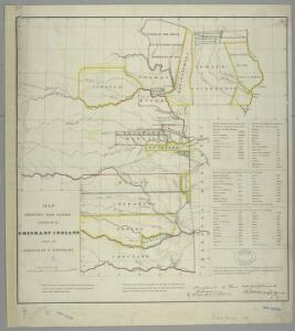 Map showing the lands assigned to emigrant Indians west of Arkansas & Missouri / prepared at the Topographical Bureau Feby. 23d, 1836, [by] R. Jones, Adj. Gene.