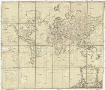Mappe monde ou carte générale du globe terrestre