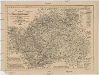 Charte vom Elbogner Kreise mit dem Egerischen Bezirk und dem Kronlehn Gut Asch