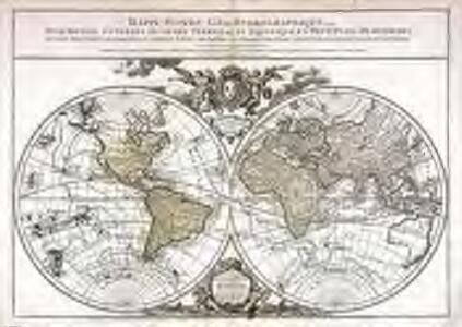 Mappe-Monde géo-hydrographique, ou description générale du globe terrestre et aquatique, en deux plans-hémispheres