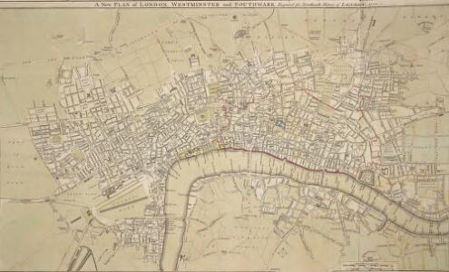 A New PLAN of LONDON WESTMINSTER and SOUTHWARK Engraved for Noorthouck's