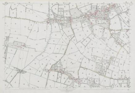 Somerset XXXIX.3 (includes: Mark; Wedmore) - 25 Inch Map