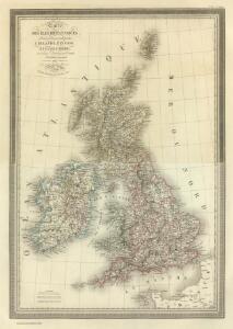 Composite:  Carte des Iles Britanniques.