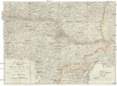 Topographische Karte der Gegend Wiens